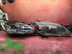 Toyota Camry v55, замена стекла и корпуса правой фары