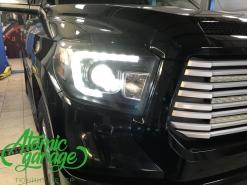 Toyota Sequoia, замена линз Optima Pro + Led птф и задний ход