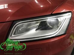 Audi Q5, ремонт штатных дхо и запотевания левой фары