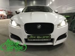 Jaguar XF, замена штатных линз на Biled Optima Pro