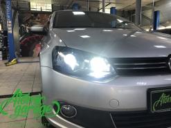 Volkswagen Polo, установка Bi-led линз Optima Pro