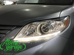 Toyota Sienna, светодиодный тюнинг фар