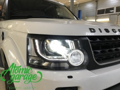 Land Rover Discovery 4, замена штатных линз на Optima Pro