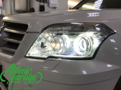 Mercedes GLK, замена стекол фар и штатных линз