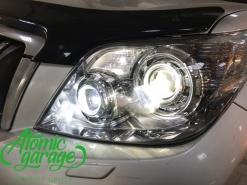 Toyota Land Cruiser Prado 150, квадро Bi-led + замена стекол