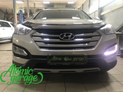 Hyundai Santa Fe DM, ремонт штатных ходовых огней