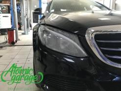 Mercedes W205, замена стекла фары