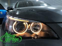 BMW 5 E60, замена линз на Bi-led Optima Pro + новые стекла