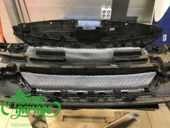 Hyundai Elantra AD, установка защитной сетки радиатора