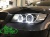 BMW 3 E90, замена линз на Bi-led Optima Pro + стекла + глазки
