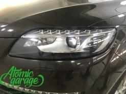 Audi Q7, замена левого стекла фары