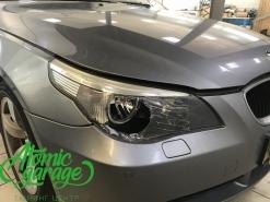 BMW 5 E60, замена стекол фар