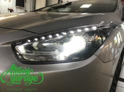 Hyundai I40, замена линз на Bi-Led Optima Professional