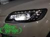 Audi Q7, замена линз на Bi-led Diliht Triled + новое левое стекло