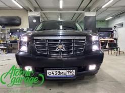 Cadillac Escalade, замена линз на Bi-led Diliht Triled + тонирующий полиуретан