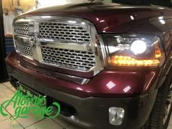 Dodge Ram 1500, замена линз на Bi-led Optima Pro