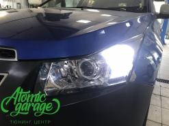 Chevrolet Cruze, установка линз Bi-led Optima Pro