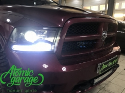 Dodge Ram 1500, замена линз Optima Pro + бегущие поворотники