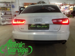 Audi A6 C7, ремонт габарита в правом фонаре