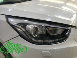 Hyundai IX35, замена стекла правой фары