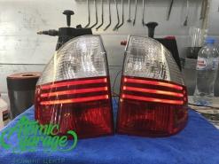 BMW X3 E83, ремонт светодиодных габаритов в фонарях