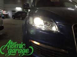 Audi Q7, замена линз на Bi-led Diliht Triled + новые стекла