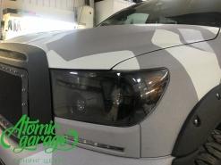 Toyota Tundra GEN2, чистка+полировка+бронирование фар