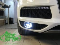 Audi Q7, замена стекла фары + светодиодные птф