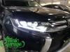 Mitsubishi Outlander 3 (2-й рестайлинг), установка линз Bi-Led Optima + тюнинг ДХО
