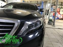 Mercedes W222, ремонт запотевания и полировка фар