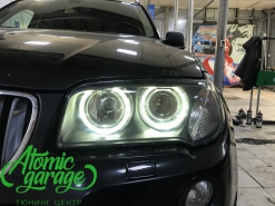 BMW X3 E83, замена линз на Bosch + новые стекла
