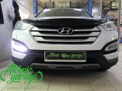 Hyundai Santa Fe DM, ремонт штатных ДХО