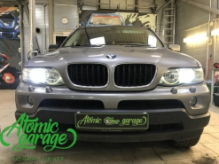 BMW X5 E53, замена линз на Bi-led Optima Pro