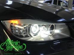 BMW 3 E90 LCI, замена линз на Hella 3r + стекла + ремонт поворотника
