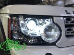 Land Rover Discovery 4, замена штатных линз на Bi-led Optima Pro