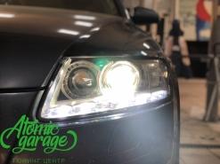 Audi A6 C6, замена линз на Bi-led Optima Pro + новые стекла + бегущие поворотники