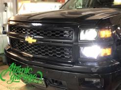 Chevrolet Silverado, замена штатных линз на Bi-led Optima Pro