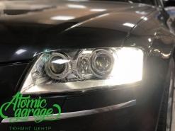 Audi A8 D3 4E, установка 4-х линз Optima + DRL ProBright Base