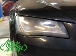 Audi A8 D4 4H, комплексная полировка + чистка фар