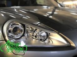 Porsche Cayenne 957, замена линз на Hella 3R + восстановление стекол фар