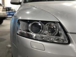 Audi A6 C6, замена штатных линз на Hella 3R + полировка