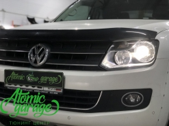 Volkswagen Amarok, установка линз Bi-led Optima Pro + лампы H15