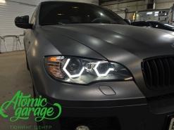 BMW X6 E71, замена колец на ромбовидные в стиле новых BMW