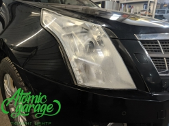 Cadillac SRX, замена линз на Bi-led X-bright + ремонт запотевания