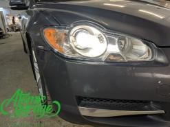Jaguar XF, замена штатных линз на Biled Diliht Triled + восстановление стекол