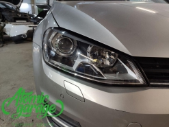 Volkswagen Golf 7, установка линз Bi-led X-bright
