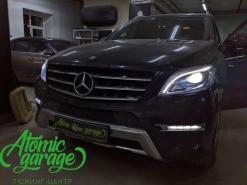 Mercedes ML W166, замена штатных линз на Bi-led Diliht Tendel