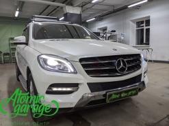 Mercedes ML W166, замена штатных линз на Bi-led Diliht Tendel + восстановление стекол