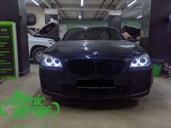 BMW 7 F01, замена ангельских колец на светодиодные